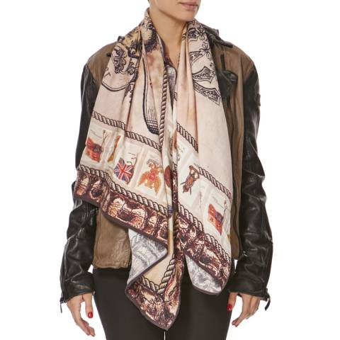 Bolongaro Trevor BADGES SCARF BROWN