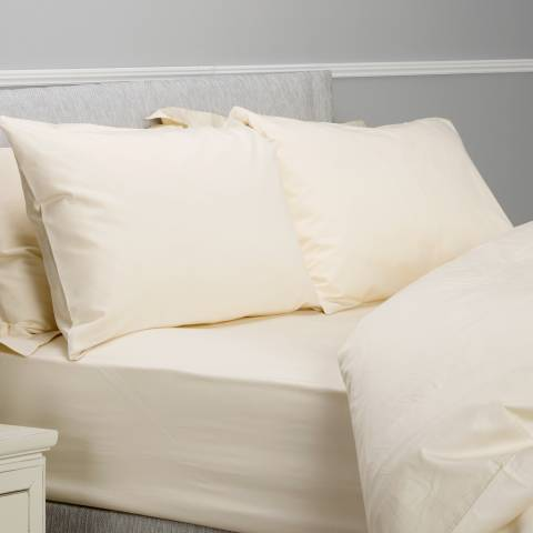 The Lyndon Company 400TC Super King Fitted Sheet, Cream