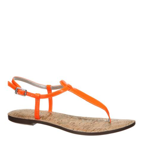 Sam Edelman Neon Orange Patent Gigi Sandals