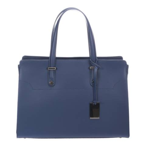 Giorgio Costa Navy Leather Top Handle Bag