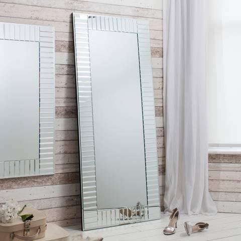 Gallery Silver Mondello Leaner Mirror 67.5 x 28.5 Inches