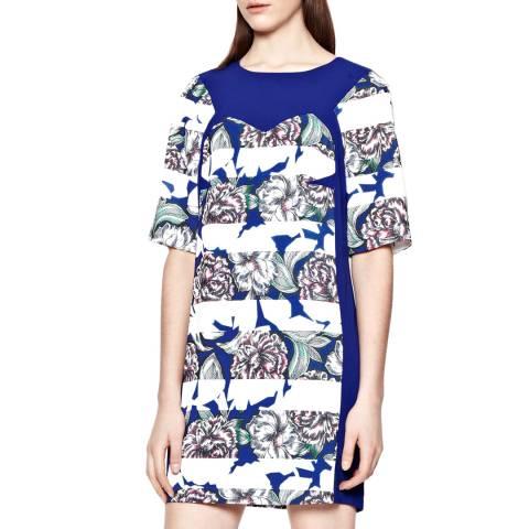 French Connection Blue Bonita Spring Stripe Tunic Dress
