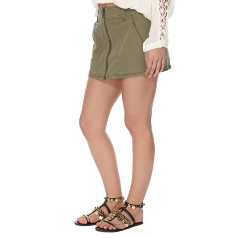 Free People Green Too Cool Mini Skirt