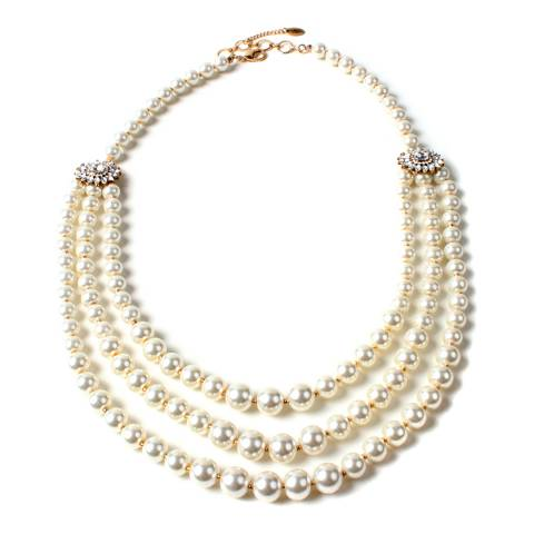 Amrita Singh White Meenali Pearl Necklace