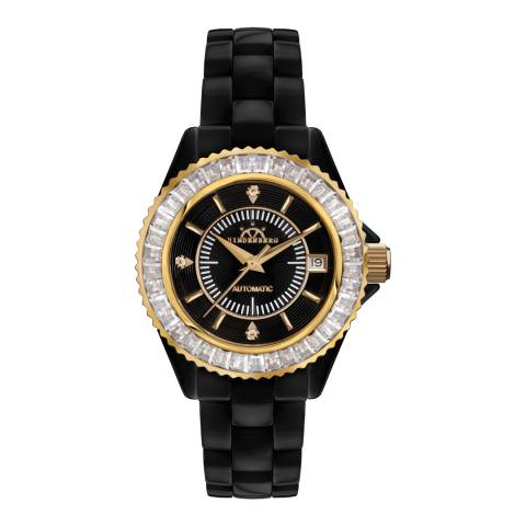 Hindenberg Women's Black Ceramic Galaxy Watch