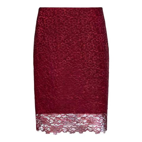 Reiss Red Lace Dree Pencil Skirt