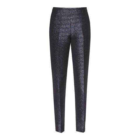 Reiss Navy Metallic Kalli Trousers
