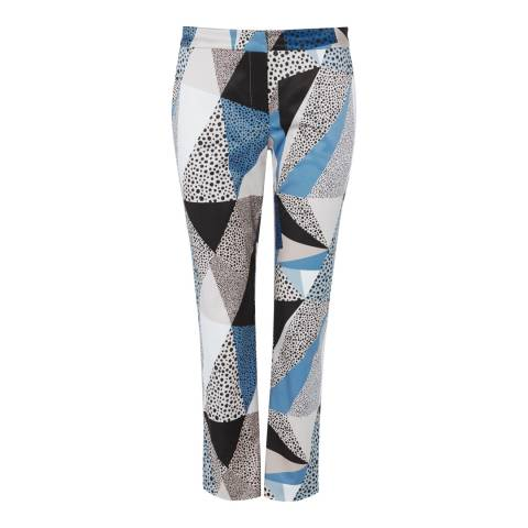 Baukjen Multi Coloured Tonal Geometric Abberton Cotton Blend Trousers