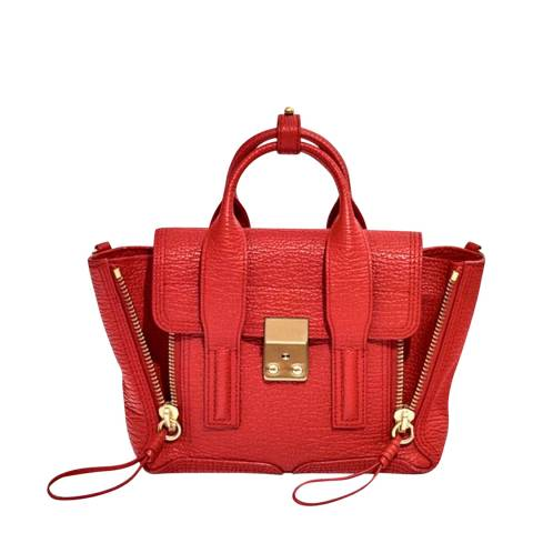 3.1 PHILLIP LIM Red Leather Mini Pashli Satchel