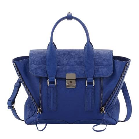 3.1 Phillip Lim Cobalt Leather Medium Pashli Satchel