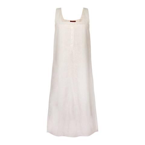 WTR London Natural Keten Knit Detailed Linen Dress