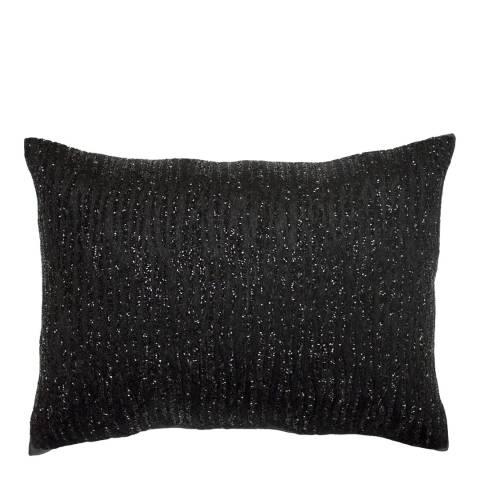 Kylie Minogue Ebony Black Beaded Polyester Filled Cushion 22 x 30cm