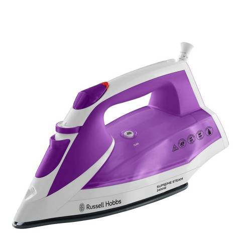 Russell Hobbs Purple Supreme Steam Iron 2400W
