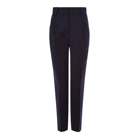 Jaeger Black Straight Leg Wool Blend Trousers