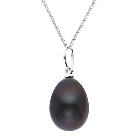 Just Pearl Black Pearl Pendant Necklace