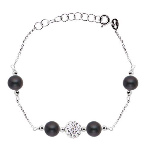 Just Pearl Black Round Pearl Bracelet