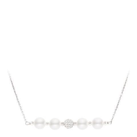 Mitzuko Natural White Round Pearl Necklace