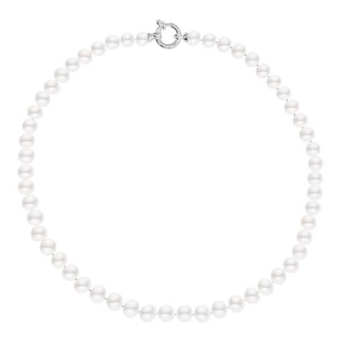 Just Pearl White/White Gold Freshwater Pearl Necklace