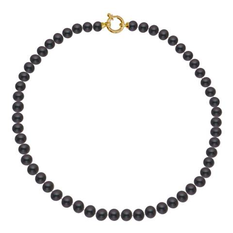 Just Pearl Black Tahitian/Gold Freshwater Pearl Necklace