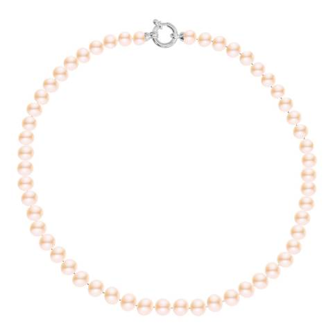 Just Pearl Pink/White Gold Freshwater Pearl Necklace