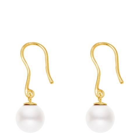 Mitzuko White/Gold Freshwater Pearl Earrings