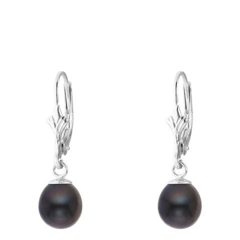 Mitzuko Black Tahitian/White Gold Freshwater Pearl Earrings