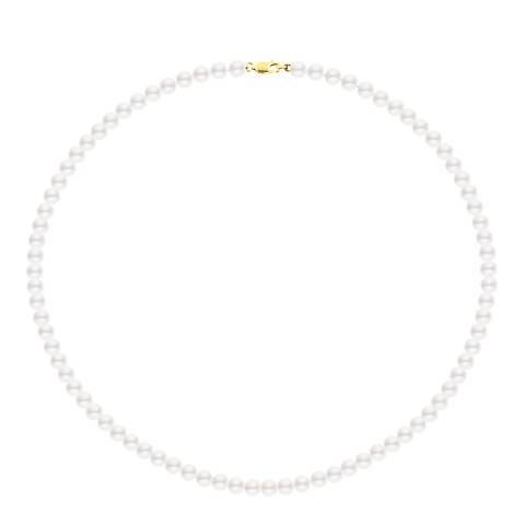Just Pearl White/Gold Tahitian Freshwater Pearl Necklace