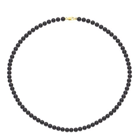 Just Pearl Black/Gold Tahitian Freshwater Pearl Necklace