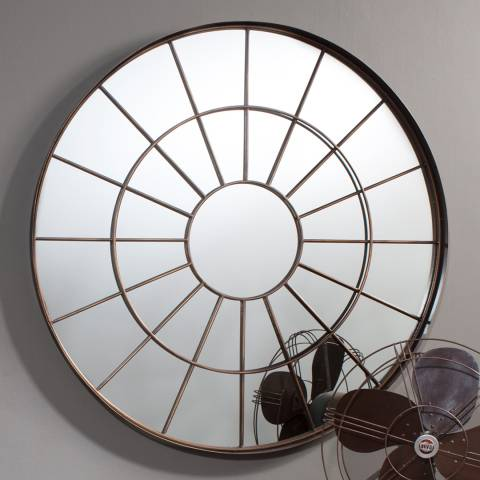 Gallery Bronze Battersea Round Mirror 100x100cm