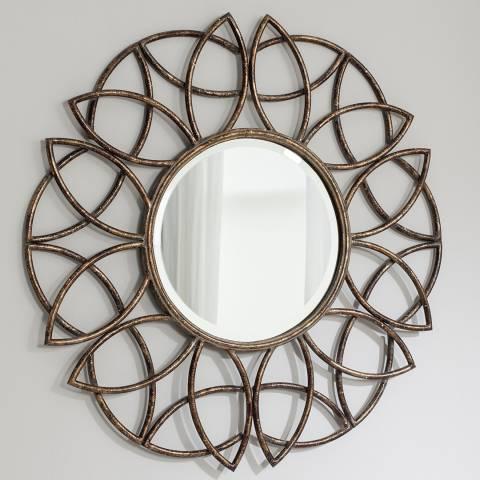 Gallery Bronze Beckfield Wall Mirror 91x91cm