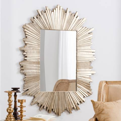 Gallery Gold/Wood Herzfeld Wall Mirror 126x93cm