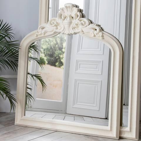 Gallery Cream Josephine Crested 112x97cm Overmantel Mirror
