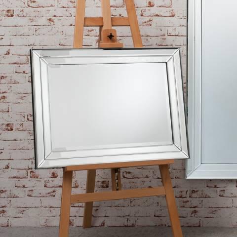 Gallery Silver Roswell Rectangular Mirror 59.5x80cm