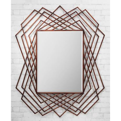 Gallery Copper Specter Wall Mirror 109x94cm