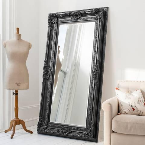 Gallery Black Valois Leaner Mirror 184.5x99cm