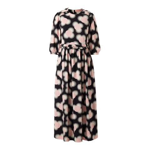 Orla Kiely Petal Pink Viscose Cou Cou Day Long Length Dress