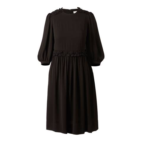 Orla Kiely Black Viscose Cou Cou Day Dress