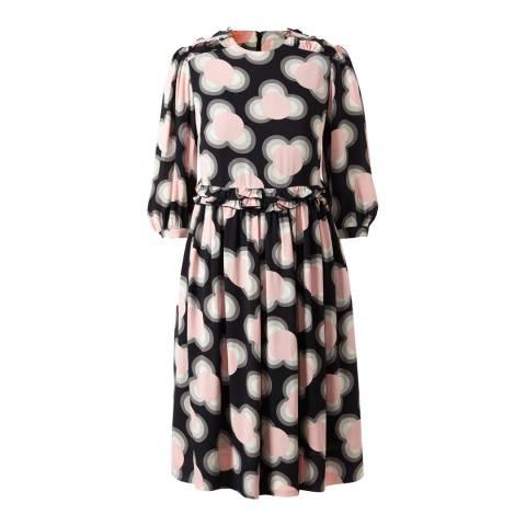 Orla Kiely Petal Pink Viscose Cou Cou Regular Length Day Dress