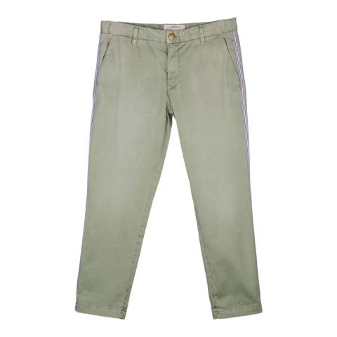 Current Elliott Sea Forest Buddy Cotton Cropped Trousers