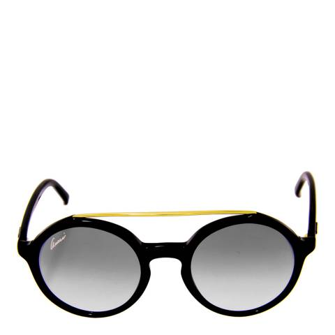 Gucci Women's Black/Gold Round Lens Sunglasses 48mm