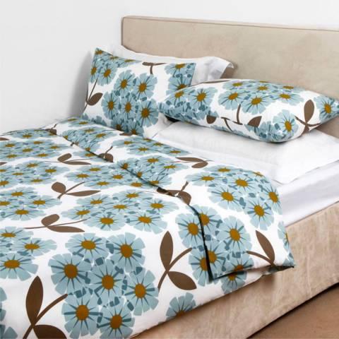 Orla Kiely Cerulian Blue Cotton Rhododendron Pillowcases