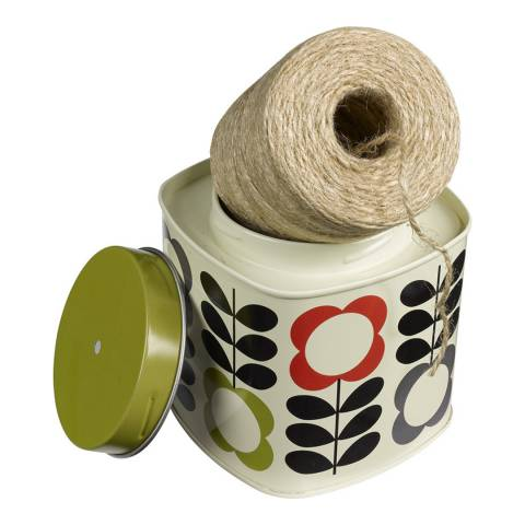 Orla Kiely Multi Flower Stem Gardening String in a Tin