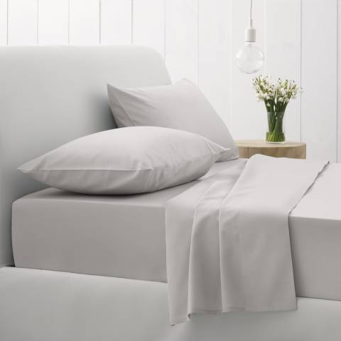 Sheridan 500TC Sateen King Fitted Sheet, Silver