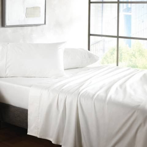 Sheridan 500TC Sateen King Fitted Sheet, Snow