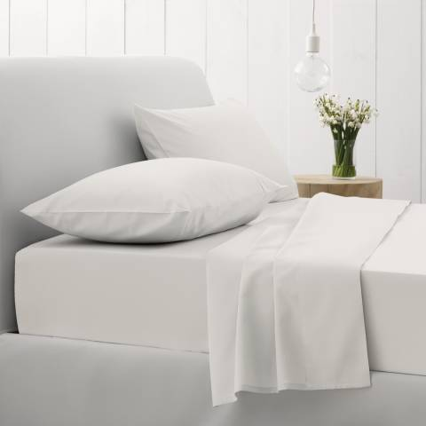 Sheridan 500TC Sateen Super King Flat Sheet, Snow