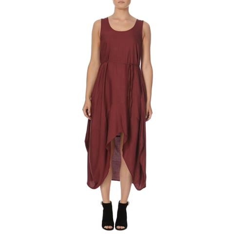 Bolongaro Trevor Oxblood Parachute Dress