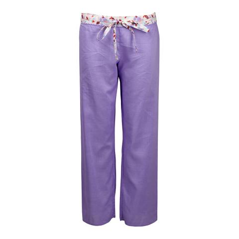 Cyberjammies Purple Patchwork Aviary Woven Pants