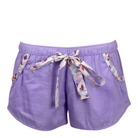 Cyberjammies Purple Patchwork Aviary Woven Shorts