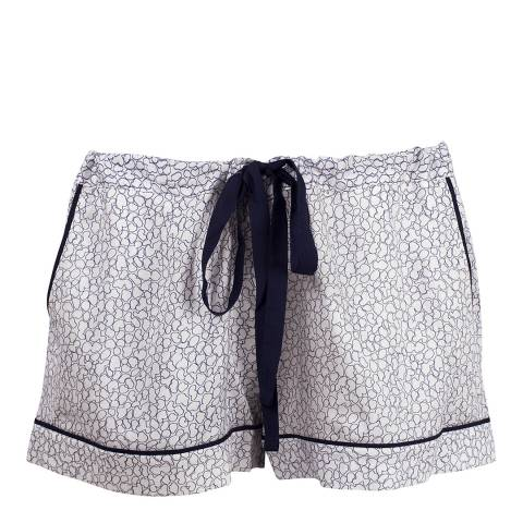 Cyberjammies White Peony Delight Print Woven Shorts