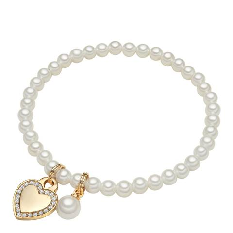 Perldesse Gold Pearl Charm Bracelet 4mm
